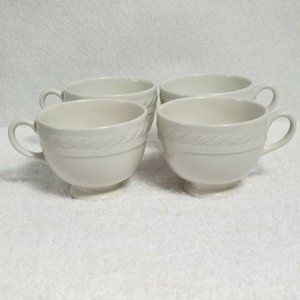 Ralph Lauren CLEARWATER Wedgwood White Set Of 4
